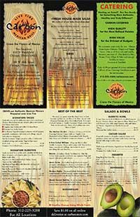 Carbon Live Fire Mexican Grill Menu
